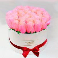 Caja Blanca de Rosas Rosadas , Mexico